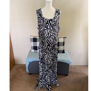 Dots Zebra Maxi Dress Size 3X